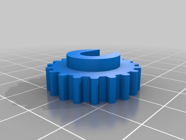 Tiny Attak Trak爬行式四轮小车3D打印图纸 STL格式