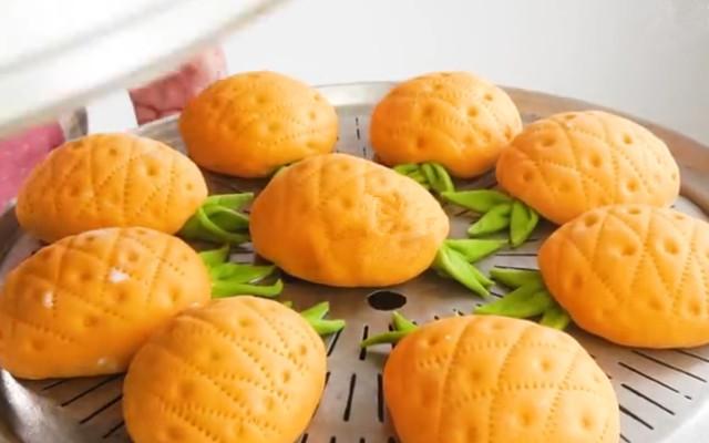 可爱又美味的菠萝馒头做法 松软香甜