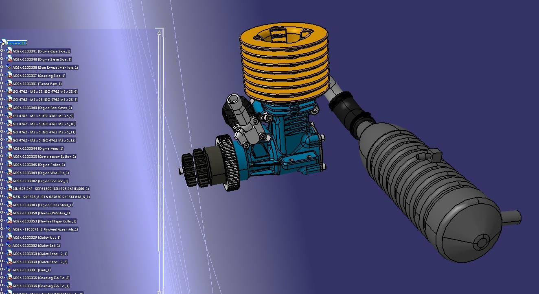 MKII发动机引擎模型3D图纸 STP格式