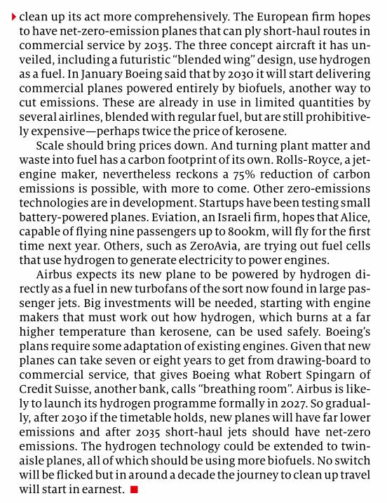 经济学人:航空业的另一挑战:碳排放