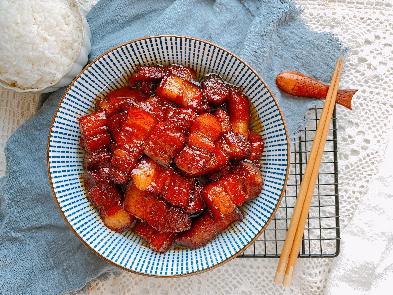 中秋宴客少不了的硬菜——红烧肉,几十年配方,色泽红润肥而不腻