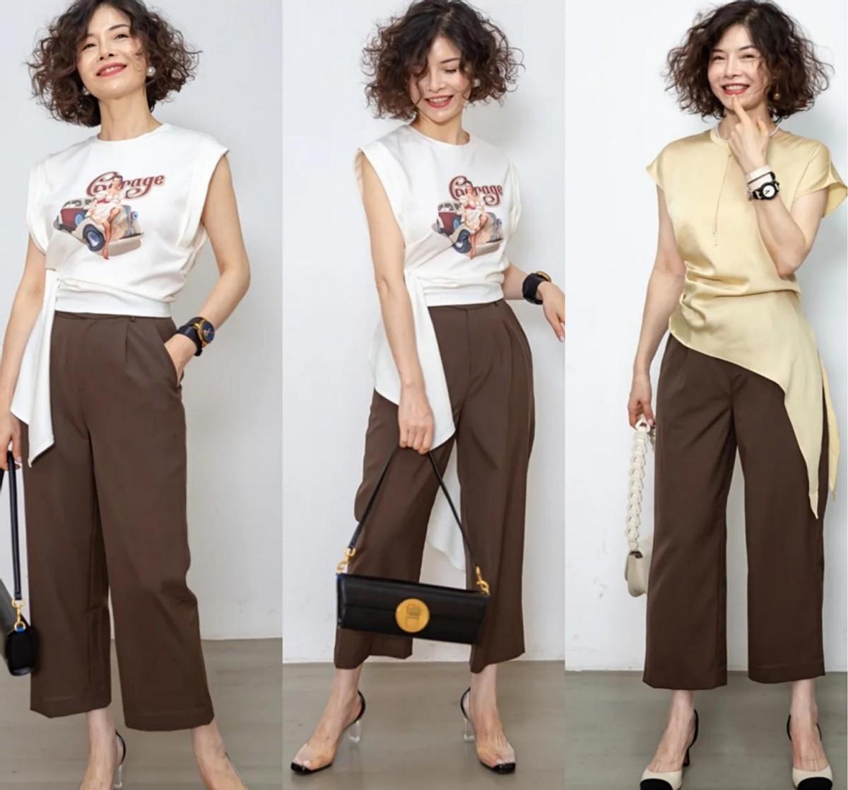 """50歲女人衣在配不在多,學大齡姐姐的""""一衣多穿"""",優雅而時髦"""