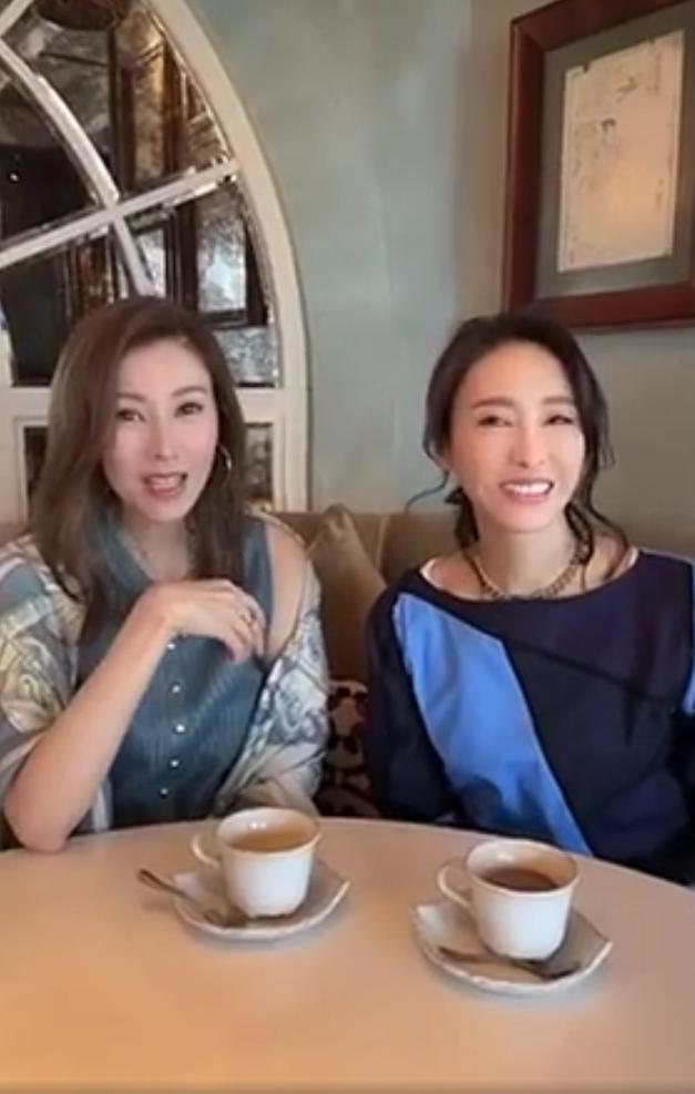 歲月不敗美人! 黎姿李嘉欣共享下午茶,閨蜜倆凍齡狀態羨煞旁人