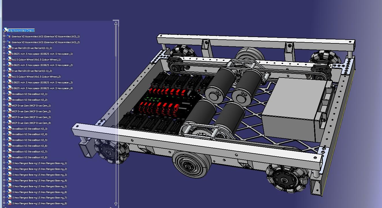 off-season wcd 4472机器人车底盘3D图纸 STP格式