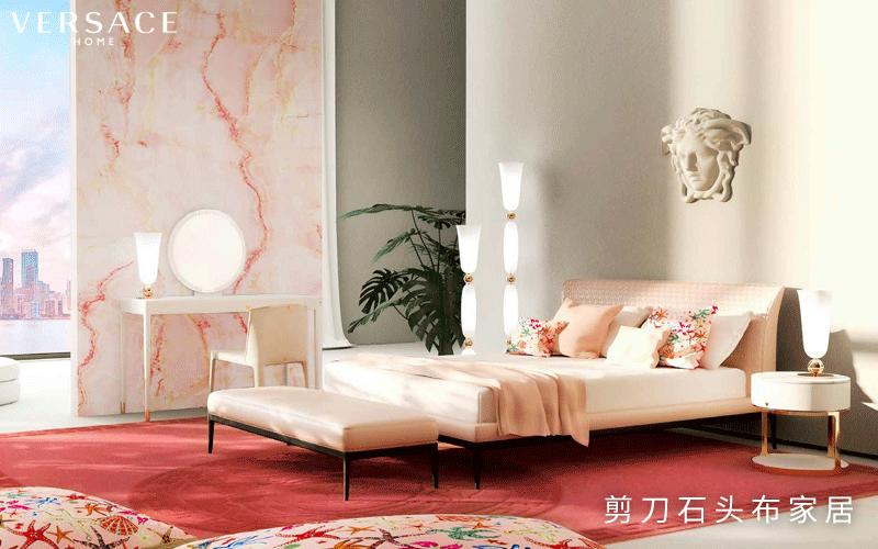 VERSACE HOME家具,卧室也要个性十足