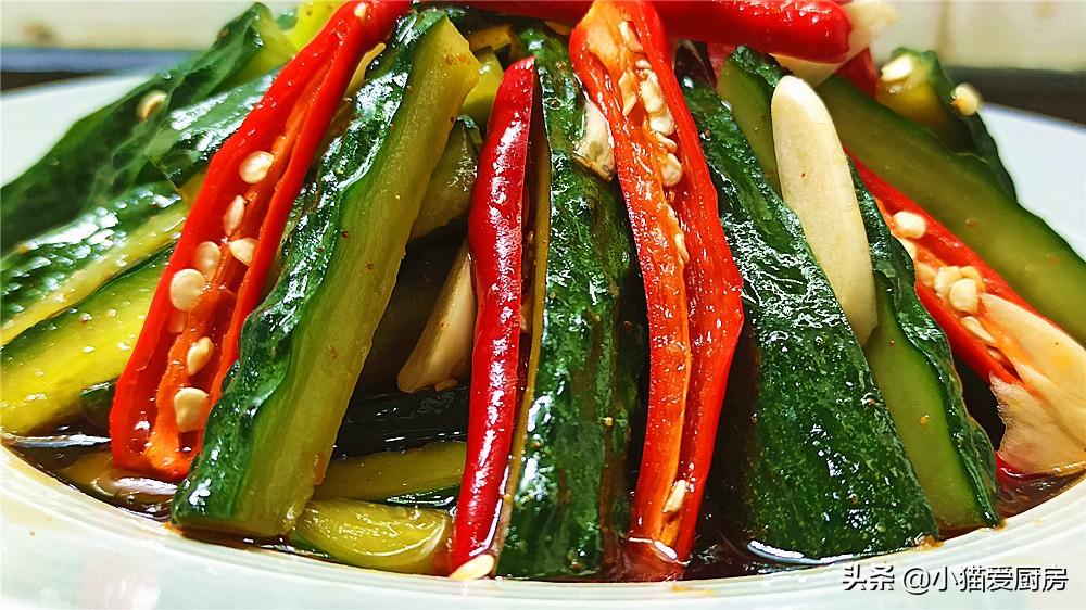 【爽口腌黄瓜】做法步骤图 做法简单 腌2小时就能吃