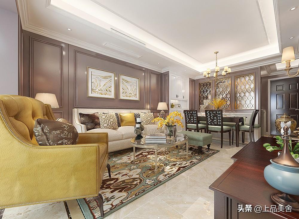 她家美式风格,全屋用浓郁的暗紫色,大胆的配色让家变得更有品味