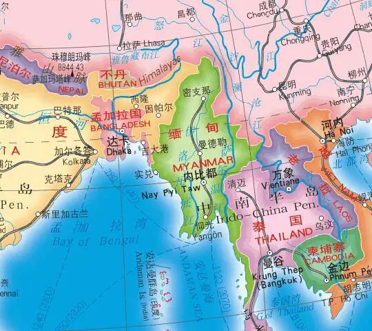 伊洛瓦底江,是中国进入印度洋的捷径和通道
