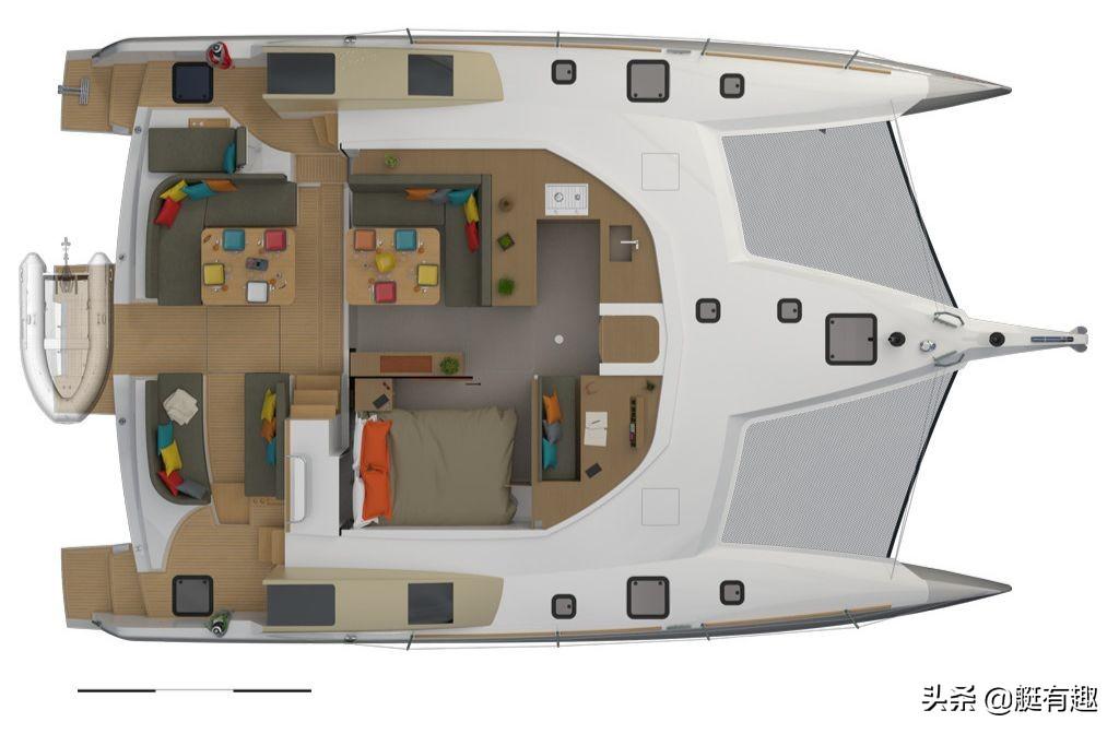 NEEL 47三体深海巡航帆船,太漂亮了,震撼的客舱270°景观视觉
