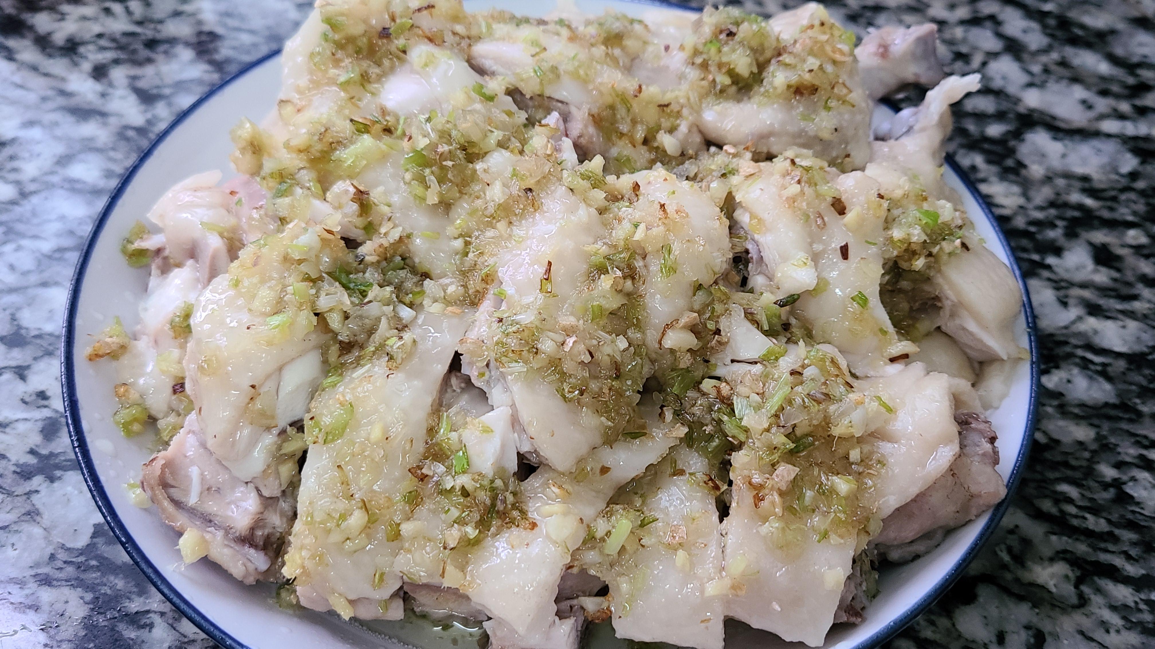蔥油雞,廣東又香又美味的一道家常菜,看著直流口水