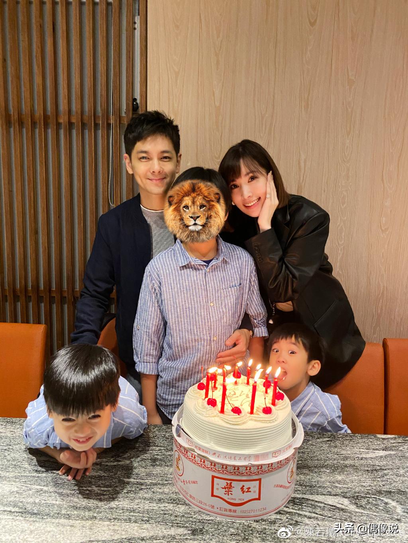 【林志颖46岁生日,一家五口拍全家福,kimi身高逼近165】图2