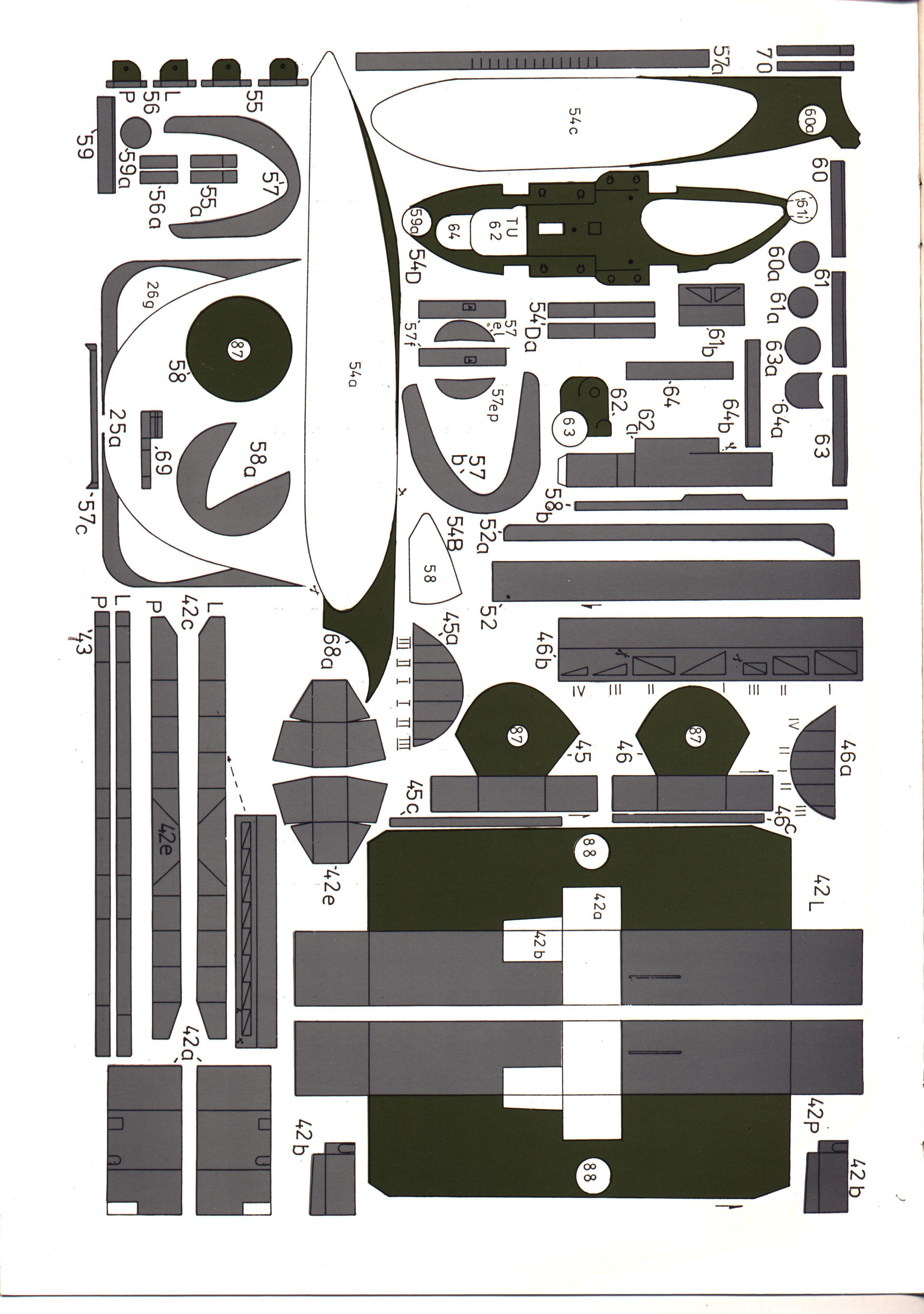 英国航母胜利号船模平面图纸 JPG格式