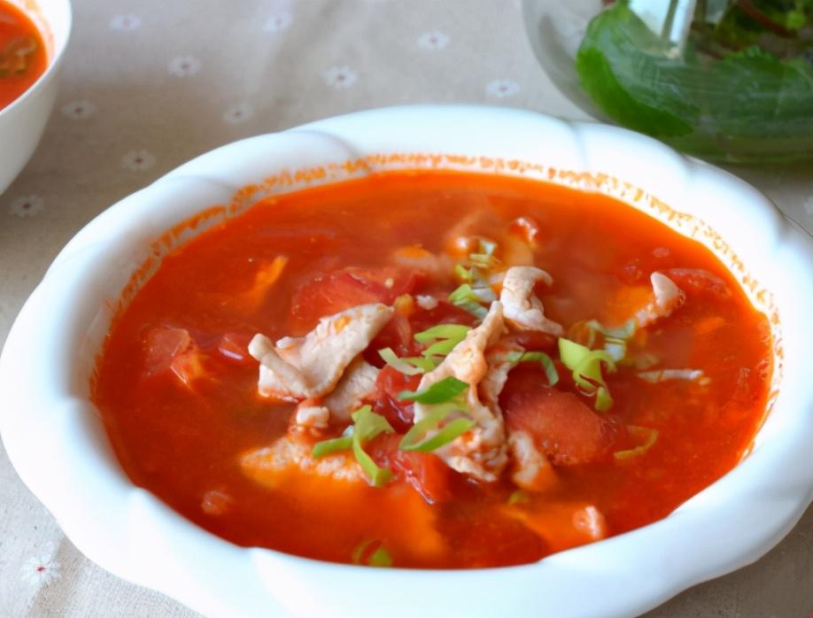 番茄蚕豆肉片汤的做法步骤图 常喝提高免疫力