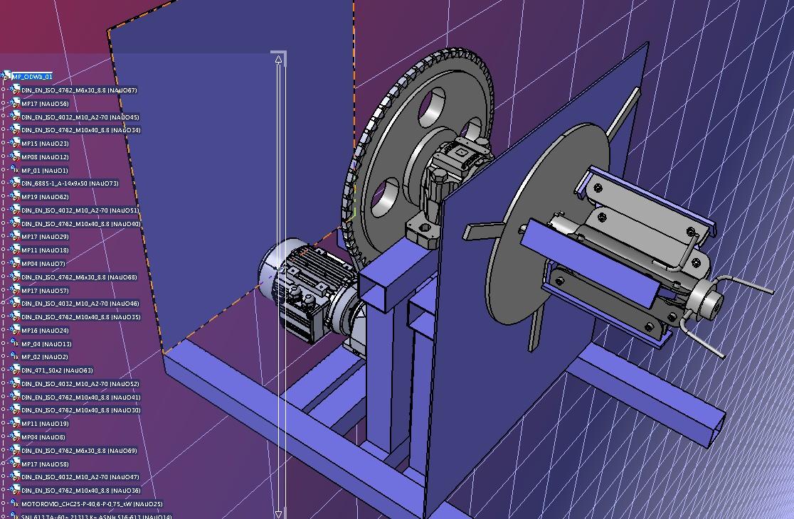 卷取放卷机构3D图纸 STP格式