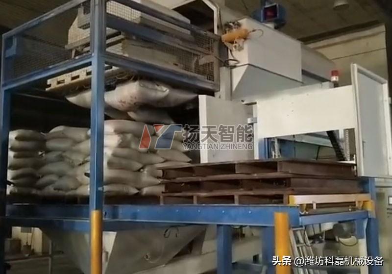 自动拆包机和自动拆垛机结合适用快速拆袋卸料效率高