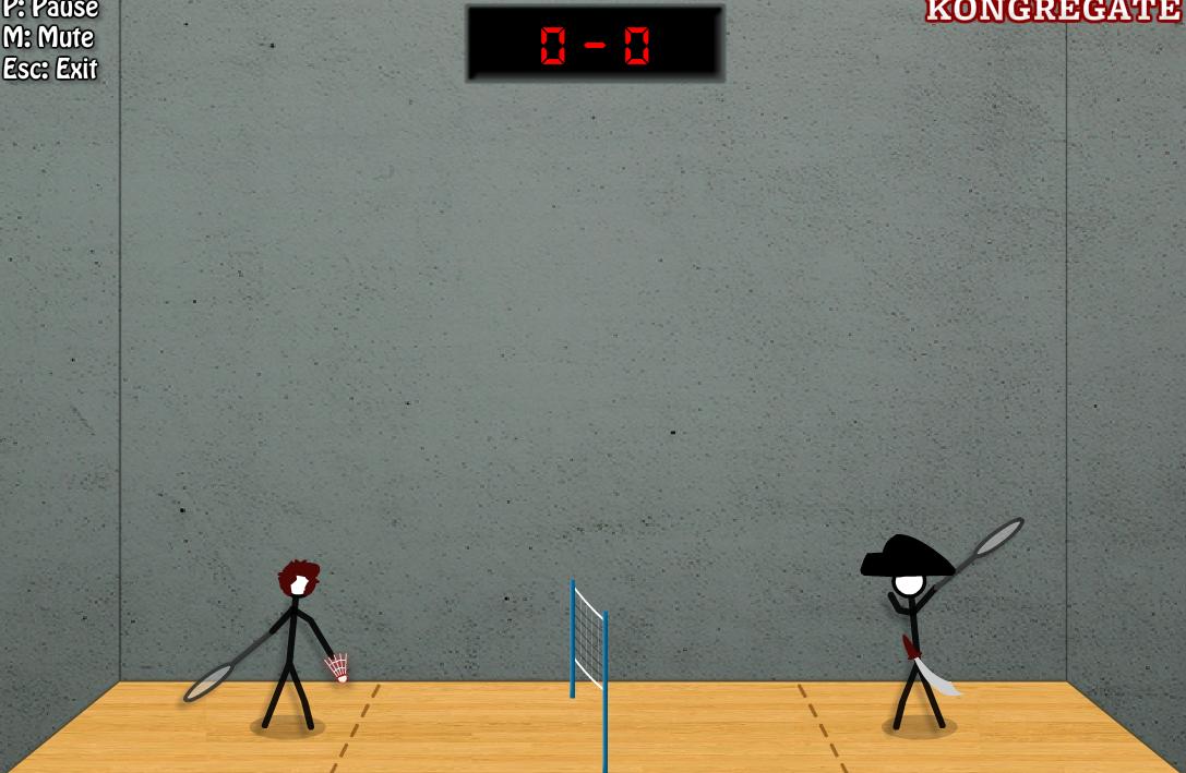 童年游戏怀念篇之《火柴人打羽毛球》