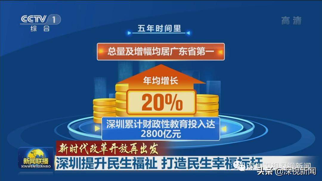 新闻联播:深圳提升民生福祉 打造民生幸福标杆
