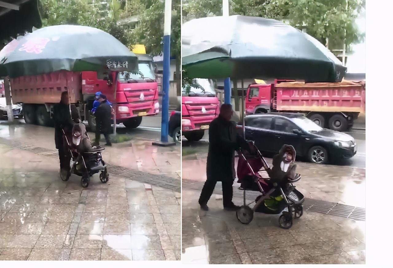 """""""霸气爷爷""""火了,为防孙女日晒雨淋,给自行车装上全景天窗"""