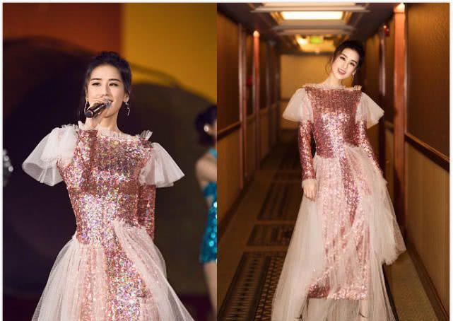 当黄圣依和宋祖儿同穿粉色纱裙,艳俗和少女感的差距一下出来了