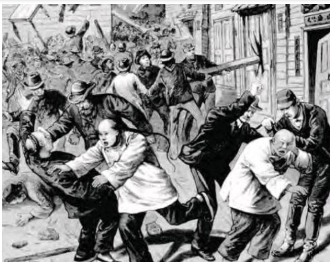 晚清时期,美国出台《排华法案》,原因是害怕华人把美国同化