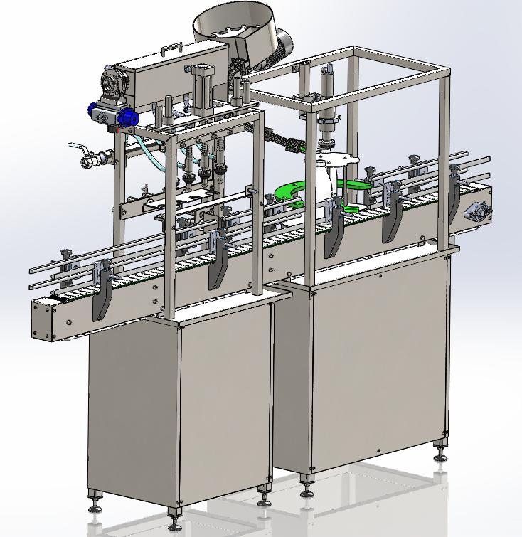 灌装旋盖灌装机3D数模图纸 IGS格式