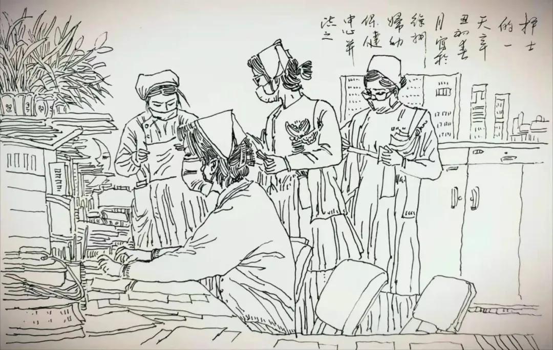"""「妇幼故事」他在病床边手绘了一幅感谢""""画"""""""