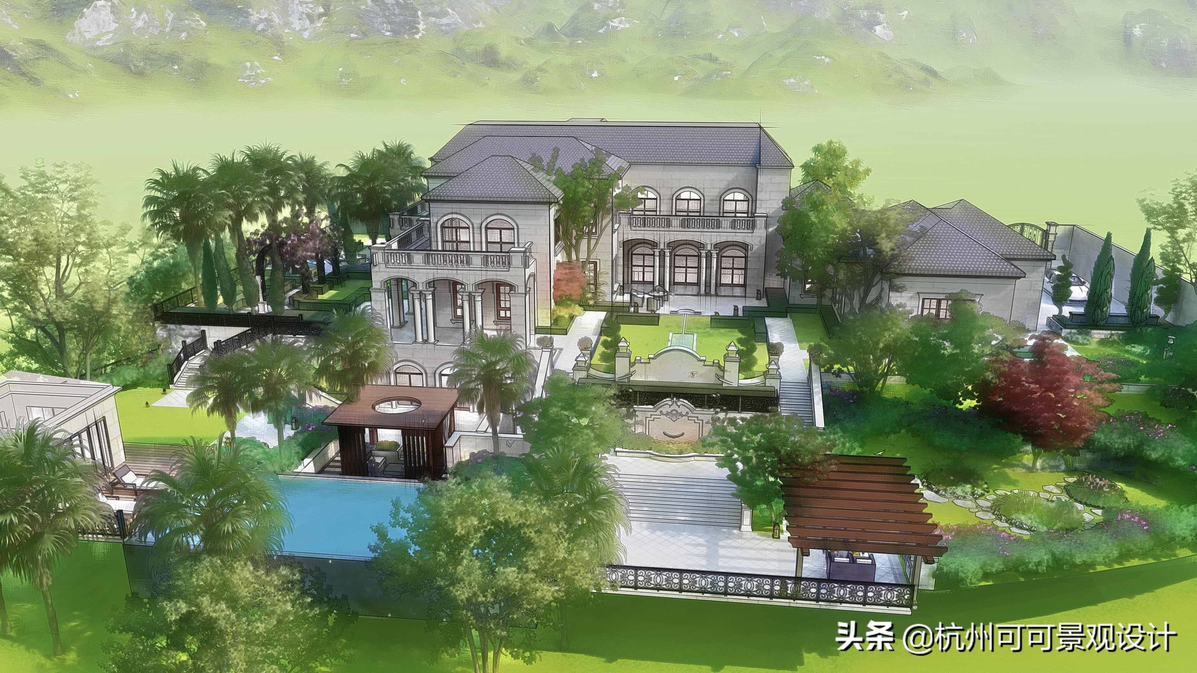 如何设计出精美的PPT时间轴?杭州别墅花园设计:3步打造精致的花园景观,这样的生活无限美好