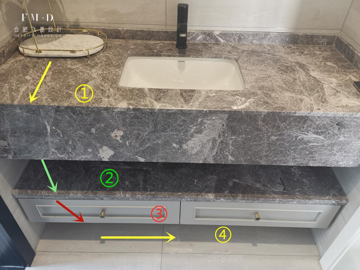 这才是高配版的洗漱区,加层20公分抽屉,4层收纳放啥都整整齐齐