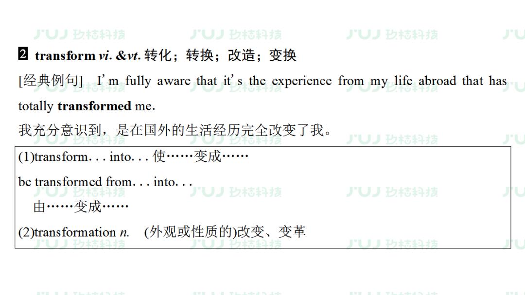 高考英语一轮复习:必修6Unit2(人教版重难点、考点)