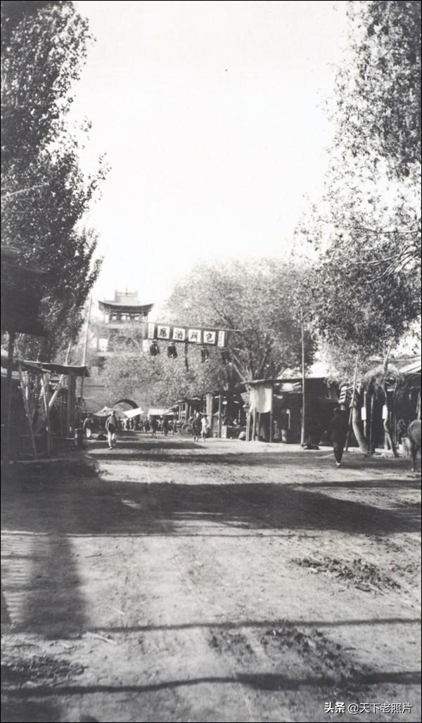 1910年 新疆惠远新城(今霍城县)城市与人物风貌照片