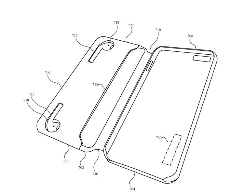 苹果新专利:手机壳可以给AirPods等配件充电?