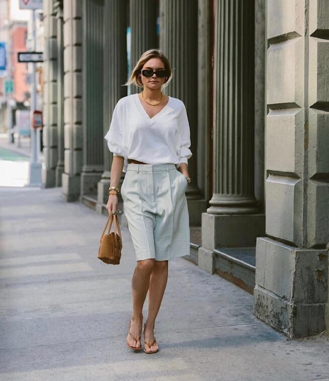 纽约时尚博主Claire Rose Cliteur出街穿搭 舒适休闲不失chic