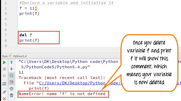 DAY1-step4 Python变量:声明,连接变量,全局和局部