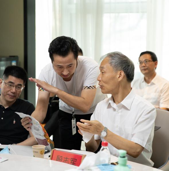 温州市副市长殷志军、商务局副局长王晓东一行,莅临辰颐物语调研