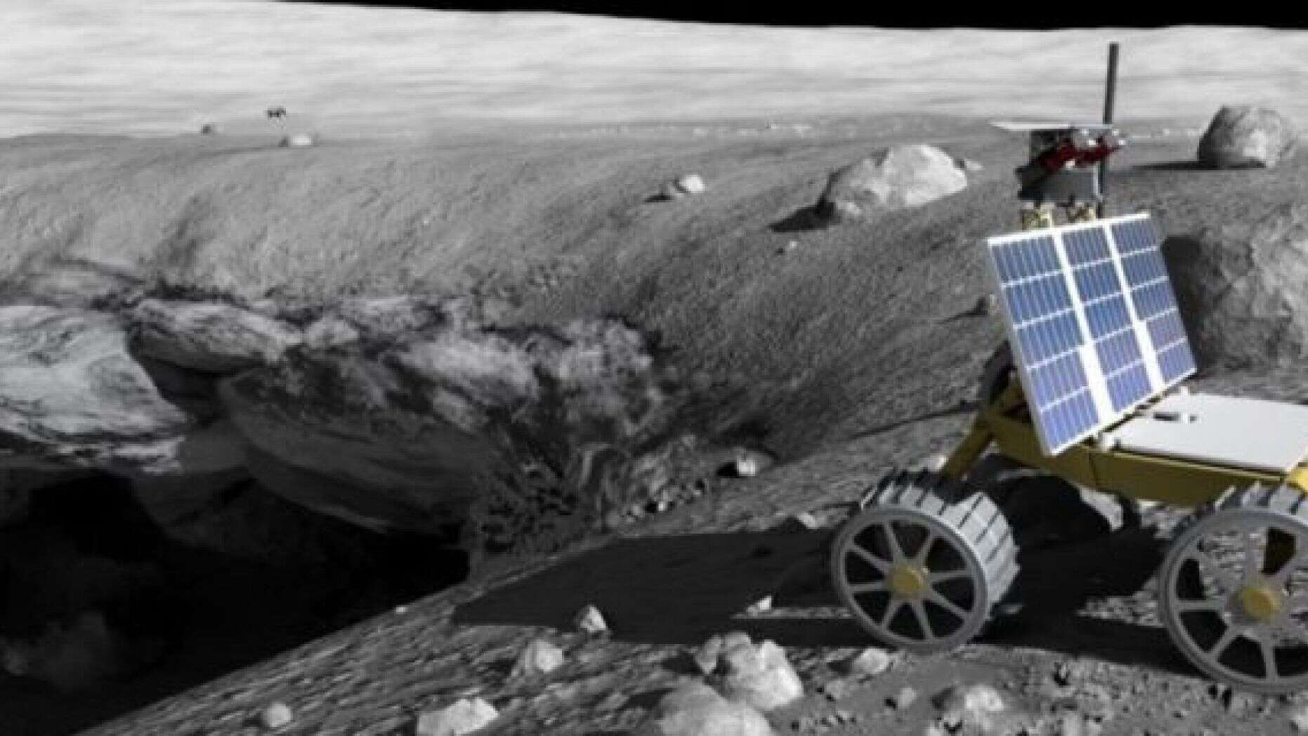 月坑,人类的未来栖息地,机器人来帮忙