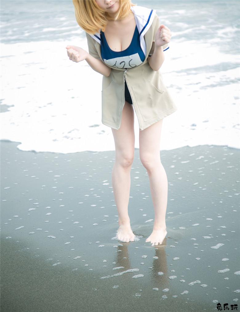 海边沙滩上的死库水少女(53P)