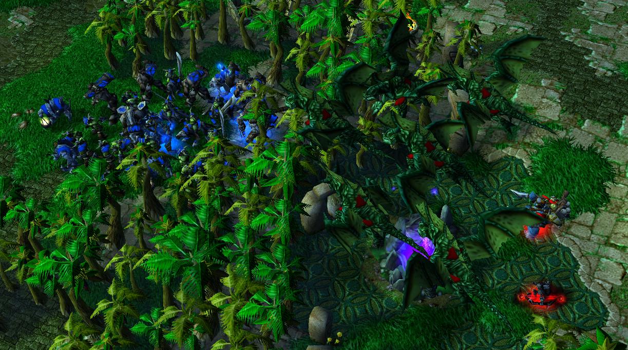 魔兽争霸:任意种族都能够1v11疯狂电脑?翡翠花园还真能做到!
