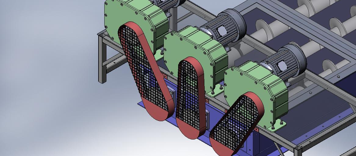 多级螺旋输送机3D数模图纸 Solidworks设计