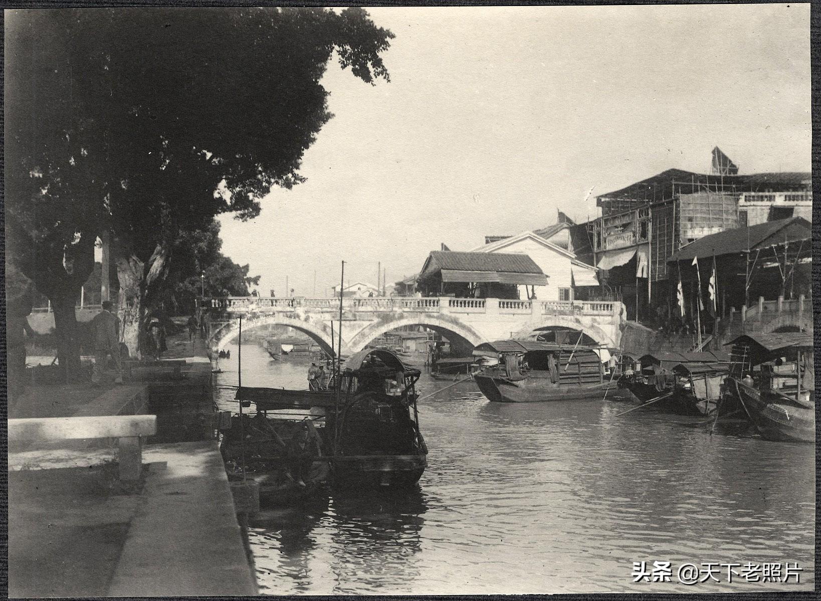 1905年的广州照 美国政府代表团访华时随行拍摄