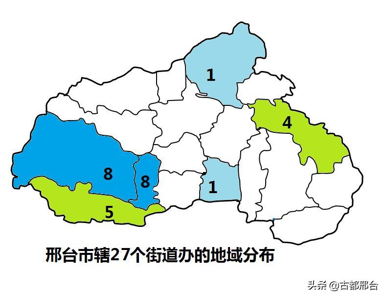 邢台市所辖27个街道的设置时间及地域分布
