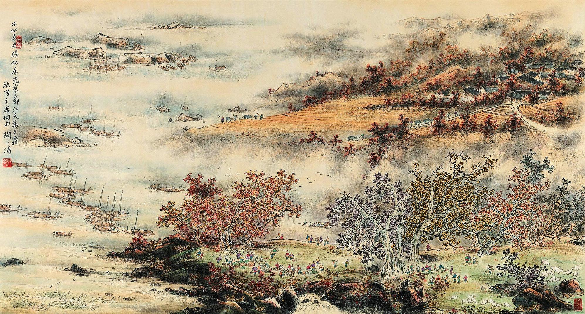 六十年代农村老年画,都是艺术品