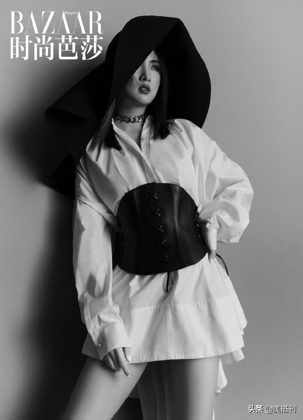 华为二公主姚安娜最新大片曝光,黑白造型变身芭蕾公主,气质高贵