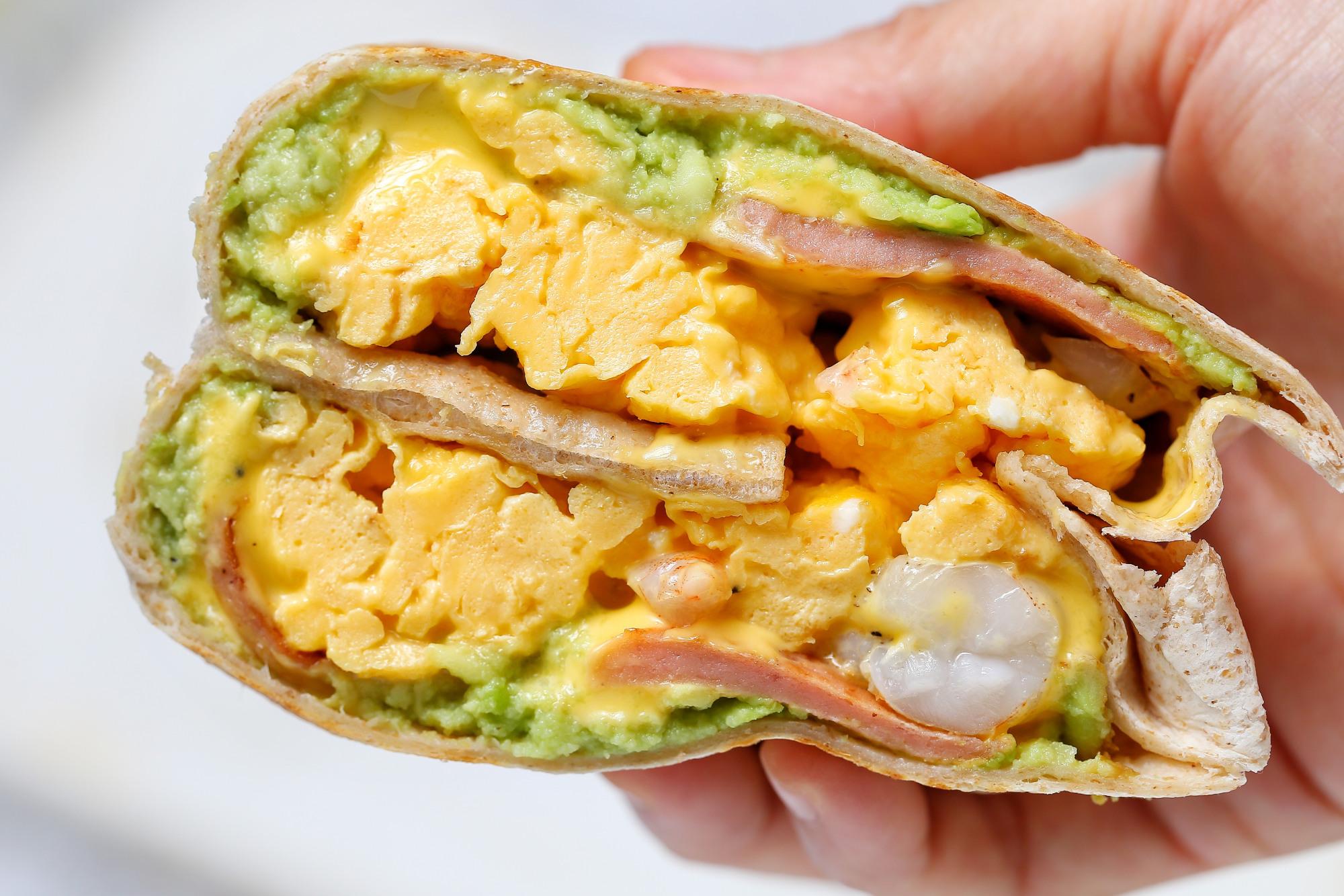 连吃一周也不腻的早餐饼,有虾有蛋营养均衡,简单快手十分钟上桌 美食做法 第2张