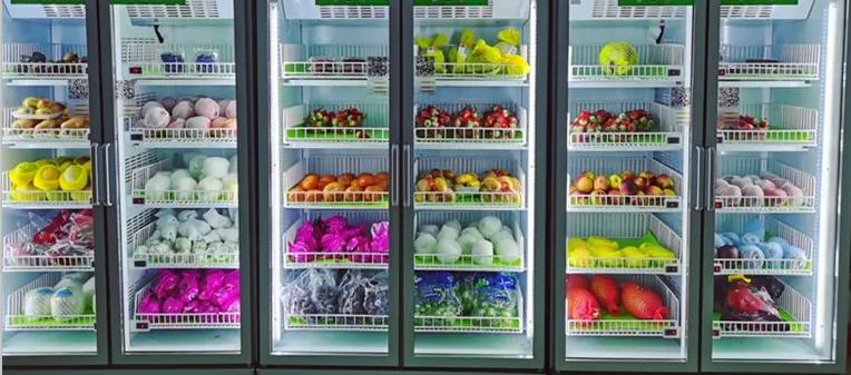 """无接触更卫生的社区""""无人果蔬机""""使消费者不再受时间和空间制约"""