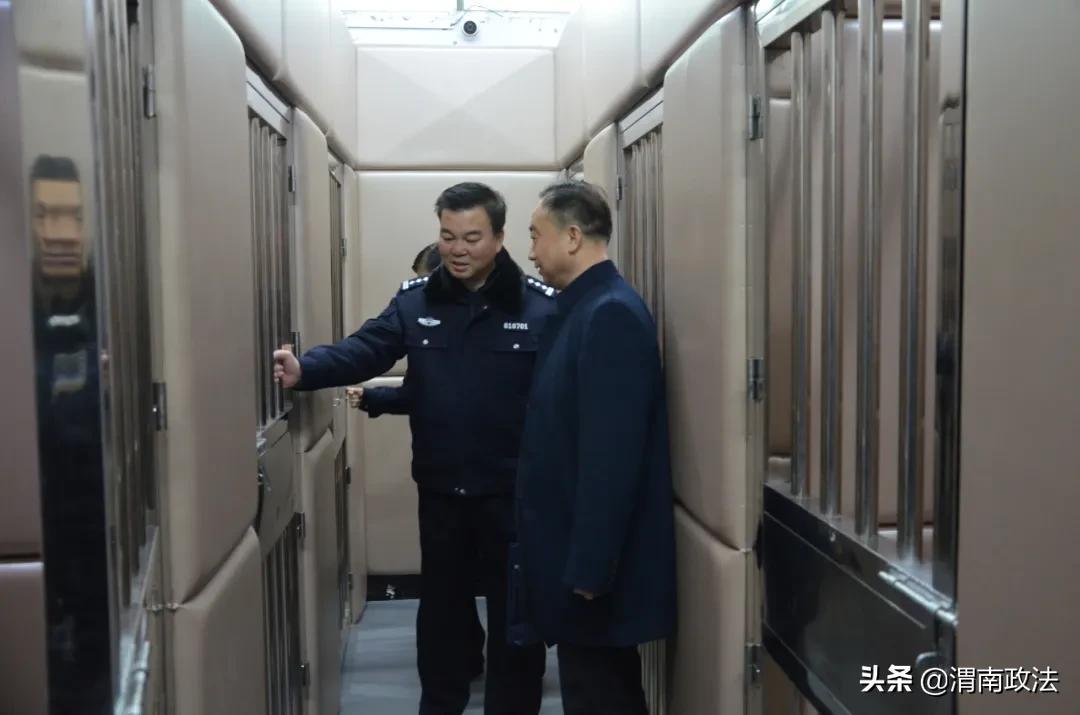 渭南市中院支队对华州区法院法警大队年度工作进行检查督导和目标责任考核(组图)