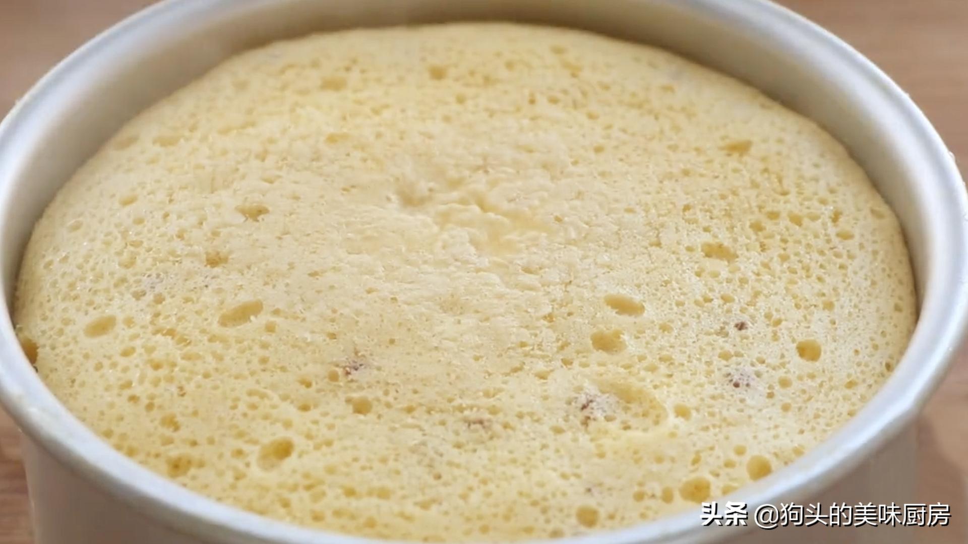 教你1碗麵粉4個雞蛋做蛋糕,不用烤箱不用電飯煲,新手一次成功