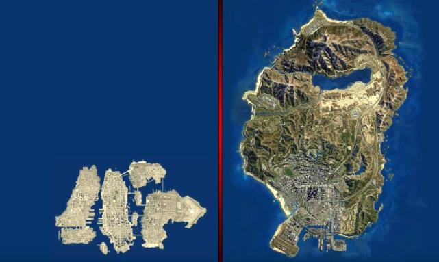 """How big is the gap between the details of """"GTA5"""" and """"GTA4"""", five years of advancement"""