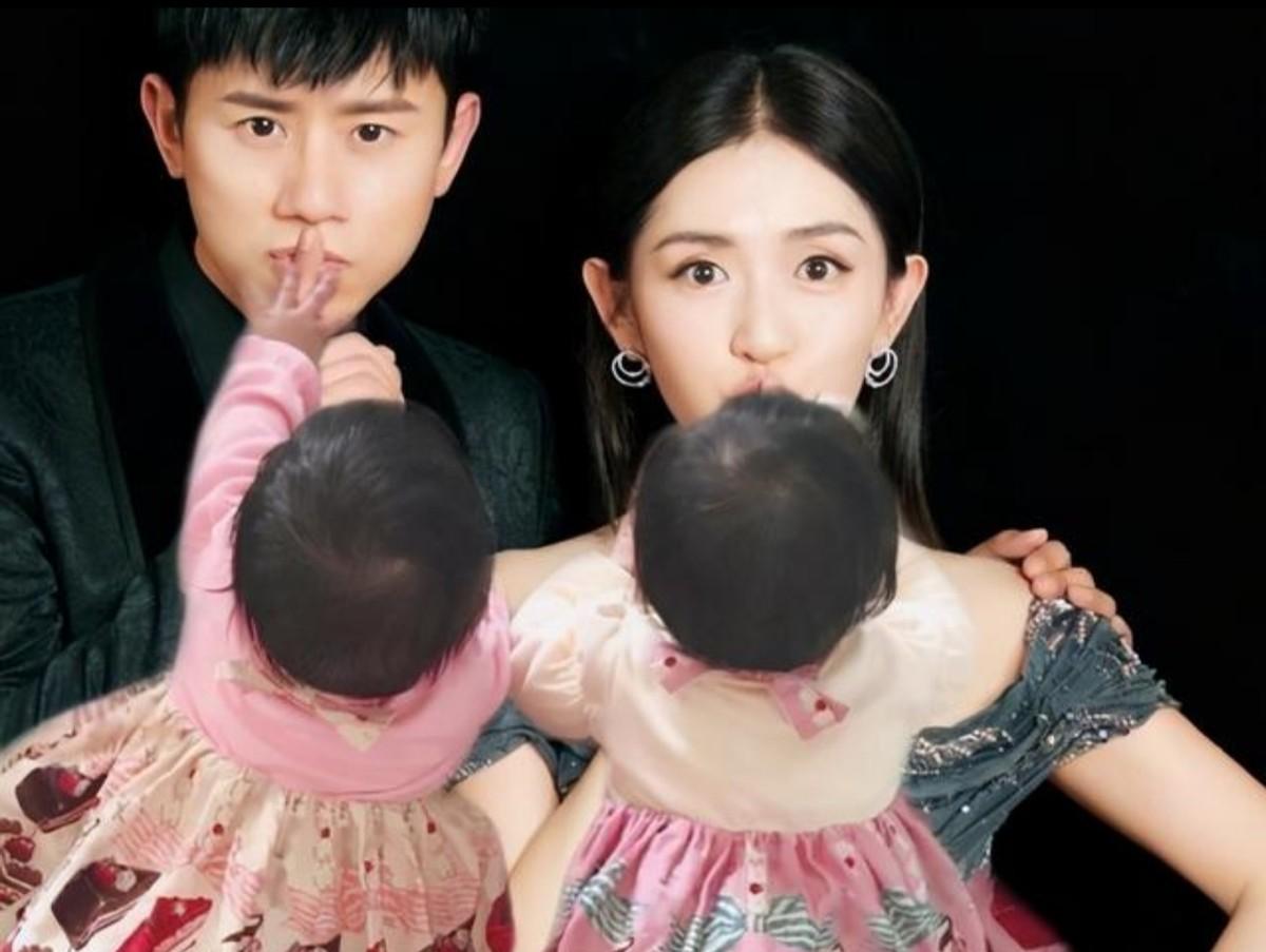 39岁谢娜晒安胎日常,女儿对待父母差别大,3胎疑似将出生?