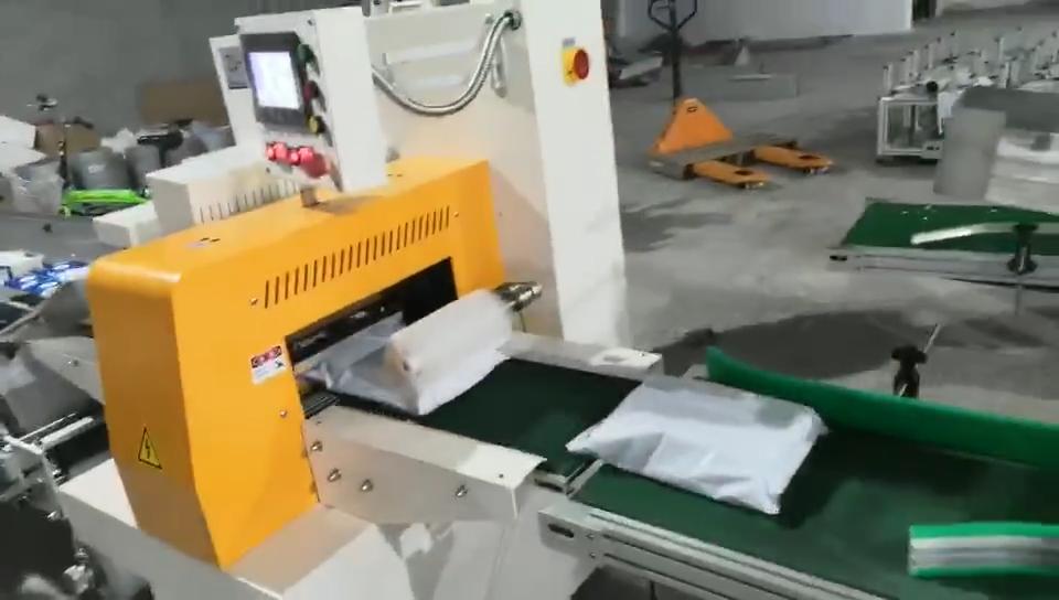全自动电商快递包装机 配套 自动热收缩 封切包装机