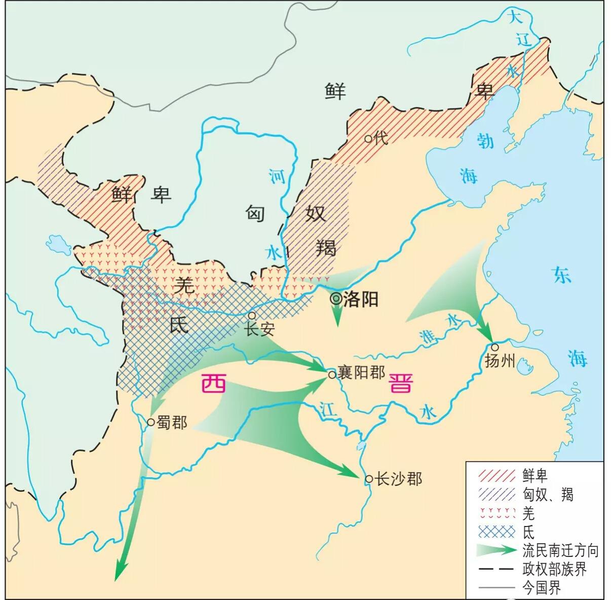 十六国时期,如此多的汉族南迁,东晋是如何安置他们的?